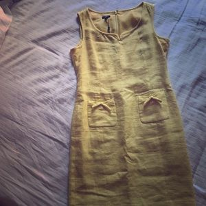 Talbots Yellow Fitted Dress. Great for work!